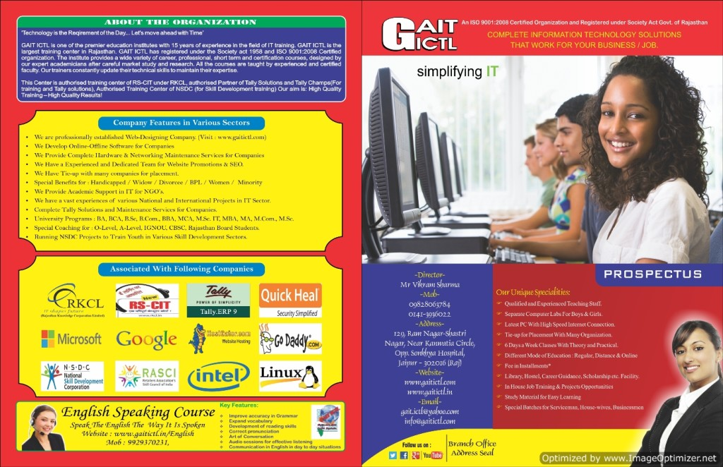 GAIT ICTL Computer Education Jaipur, Course Prospectus